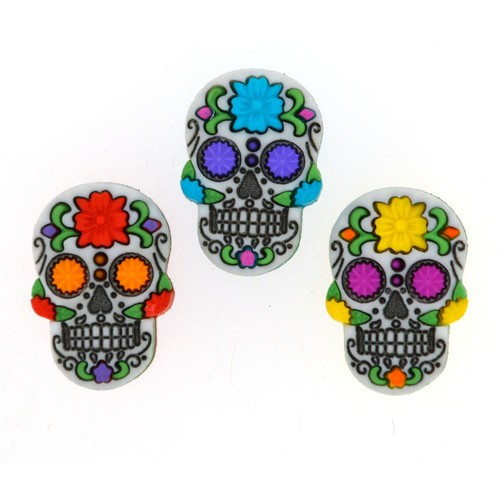 (DIU09069) - Dress It Up! Buttons - Sugar Skulls