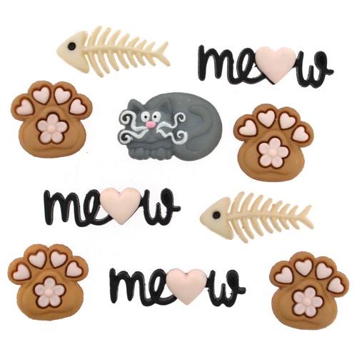 (DIU09348) - Dress It Up! Buttons - Meow