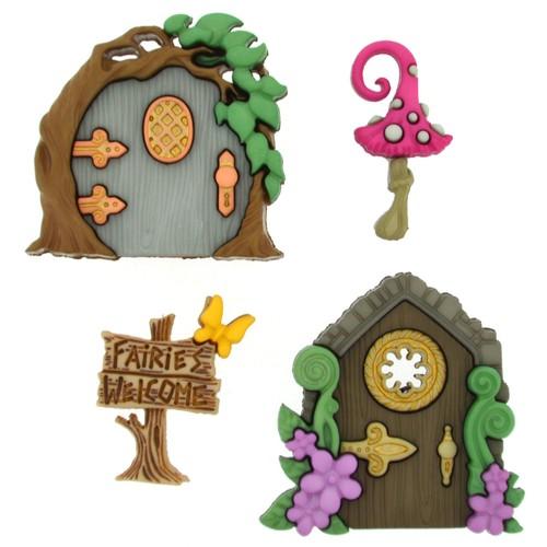 (DIU09388) - Dress It Up! Buttons - Believe in Fairies