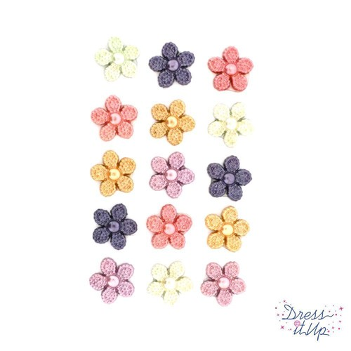 (DIU09453) - Dress It Up! Buttons - Pearl Flowers