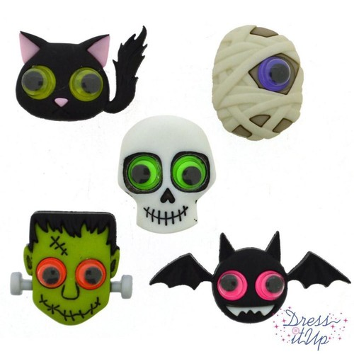 (DIU09487) - Dress It Up! Buttons - Jeepers Peepers