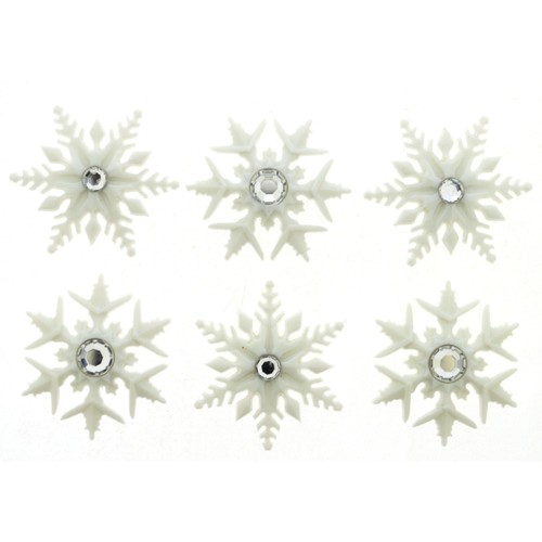 (DIU09498) - Dress It Up! Buttons - Fancy Snowflakes