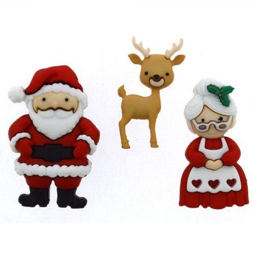 (DIU09499) - Dress It Up! Buttons - Mr & Mrs Claus