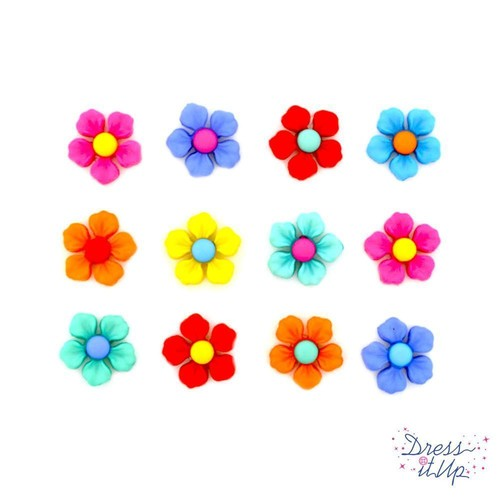 (DIU10112) - Dress It Up! Buttons - Step Into Spring