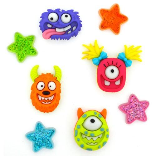 (DIU10114) - Dress It Up! Buttons - Monster Mash