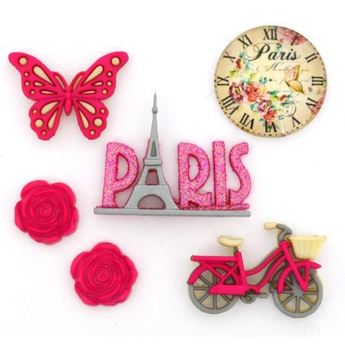 (DIU10422) - Dress It Up! Buttons - Paris