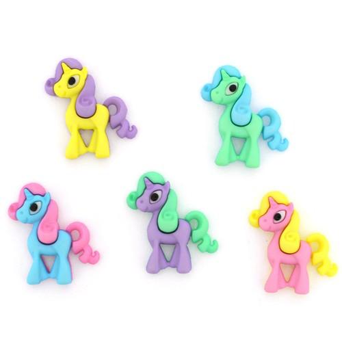 (DIU10522) - Dress It Up! Buttons - Unicorn Squad