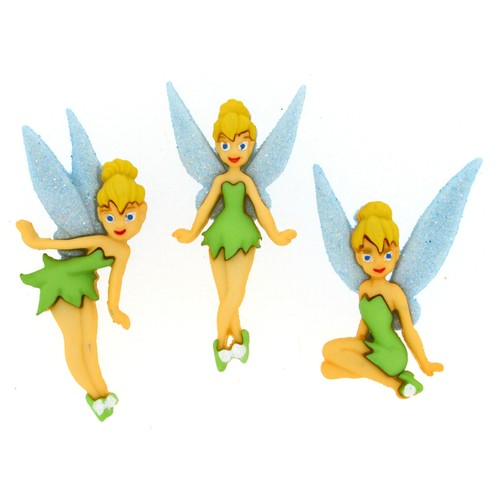 (DIUD07715) - Dress It Up! Disney Buttons - Tinkerbell