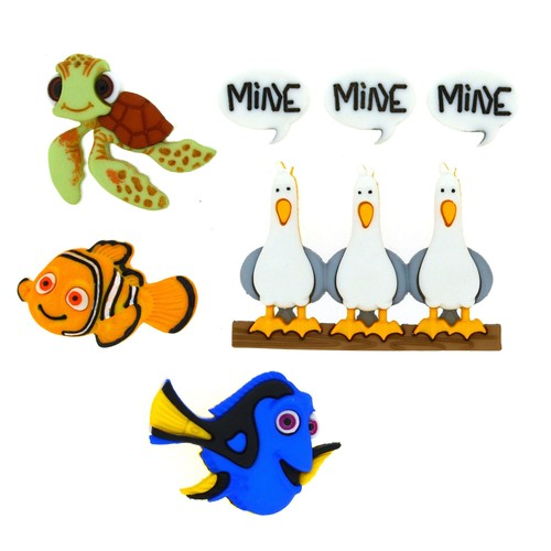 (DIUD07723) - Dress It Up! Disney Buttons - Finding Nemo