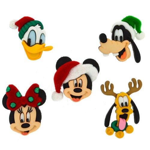 (DIUD08236) - Dress It Up! Disney Buttons - Holiday Heads