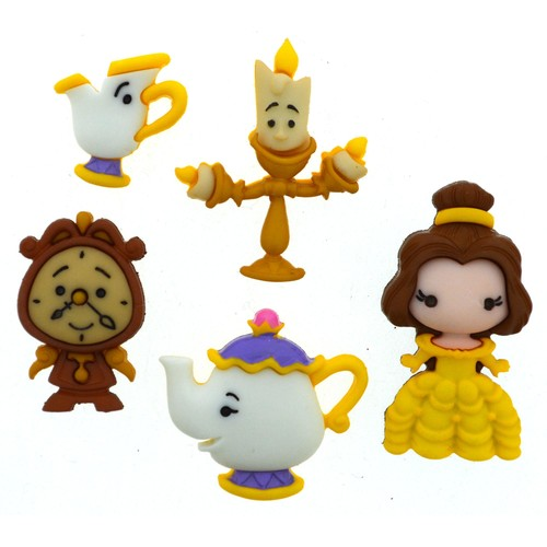 (DIUD08956) - Dress It Up! Disney Buttons - Belle and Friends