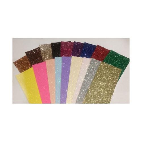 2 x A4 Fixed Glitter Cerise Pink (FXGCCPK)