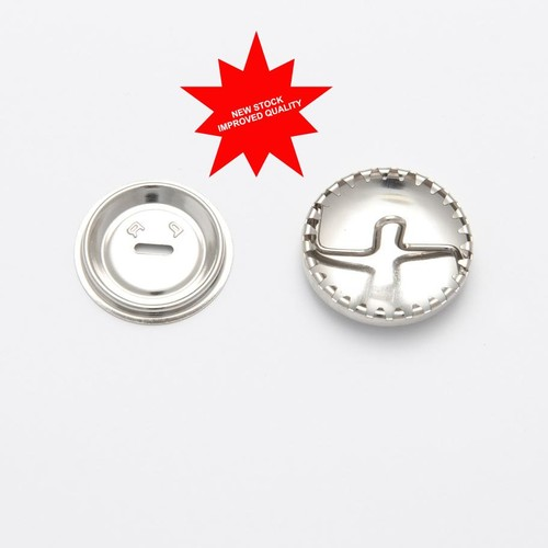 100 x 23mm Metal Cover Buttons (H423121)