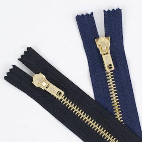 Brass Jeans 18cm (7 Inch) Zip Fasteners (JZ7)(Brown)