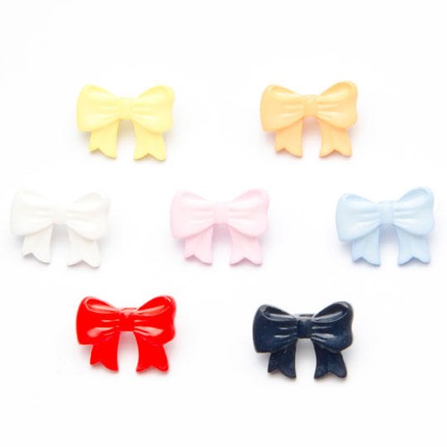 100 x Childrens Bow Shape Buttons (K775) (30 Red)