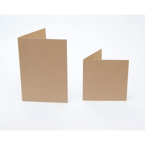 (KCE-SQ4) Kraft Cards with Envelopes - 4 Inch Square (50pk)