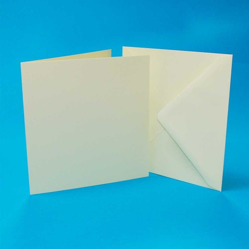 5 x Cards & Envelopes 8x8 Inch Ivory 2(LINE1014)