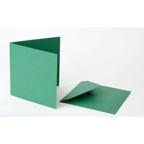 6 Inch x 6 Inch Green Cards & Envelopes Line1092