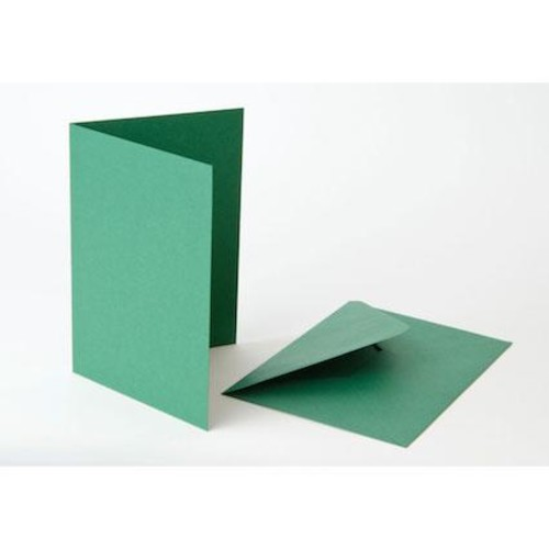 5 Inch x 7 Inch Green Cards & Envelopes Line1093