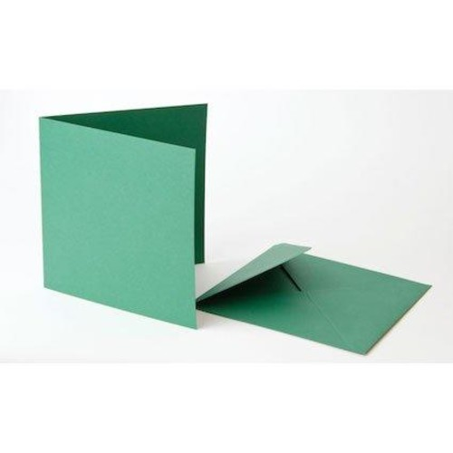 5 Inch x 5 Inch Green Cards & Envelopes Line2035