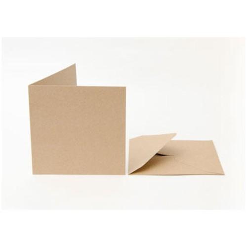 50 x Cards & Envelopes C6 Recycled Kraft (LINE2049)