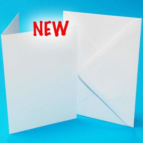 5 x Cards & Envelopes 10 x 7 Inch White 2(LINE2258)