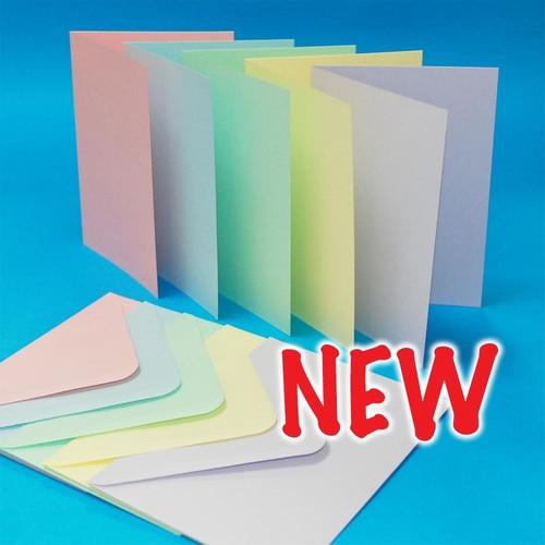 Cards & Envelopes 5x7 Pastel 40 Pack (LINE2307)