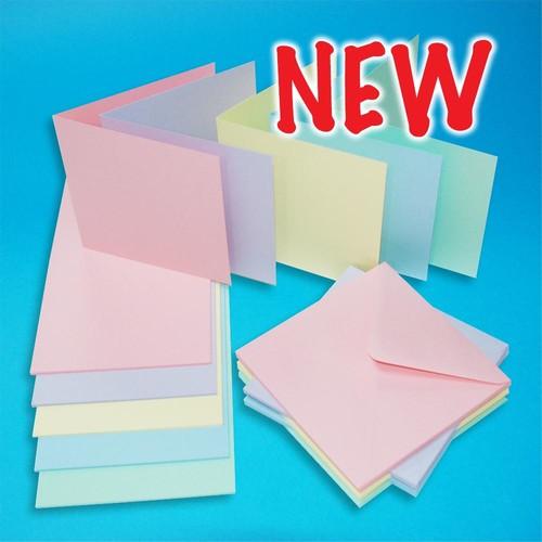 Cards & Envelopes 6x6 Pastel 40 Pack (LINE2308)