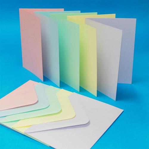 Cards & Envelopes C6 Pastel 50 Pack (LINE279)