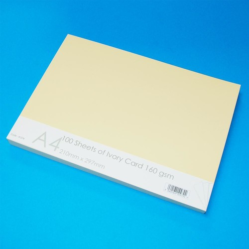 A4 Cards 100 Sheets Ivory (LINE41274)