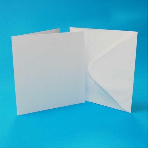 Cards & Envelopes 6 x 6 Inch White 50 Pack (LINE599)