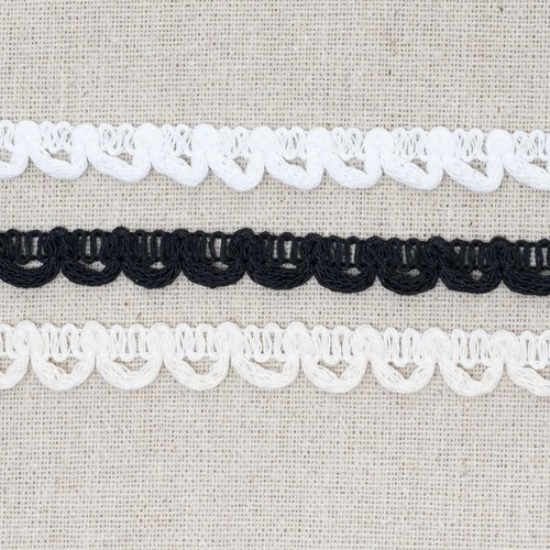 Bridal Button Looping 13mm x 25m ML45 (Black)
