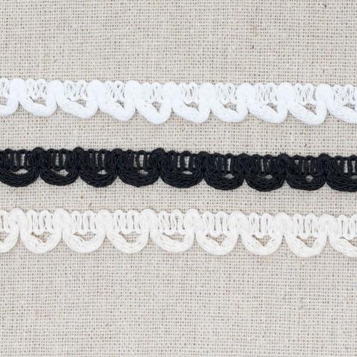 Bridal Button Looping 13mm x 25m (ML45) (White)