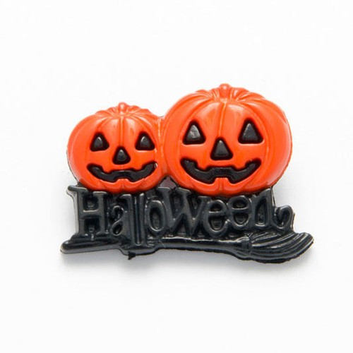 100 x 25mm Twin Pumpkin Buttons (N0345)