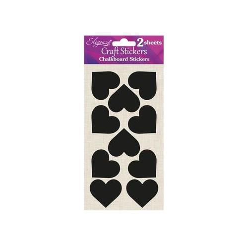 Chalkboard Small Heart Stickers (OT027517)