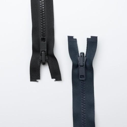 (RZ22) Reversible Open End Zip Fasteners 56cm (Black)