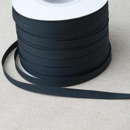 'Special Buy' Grosgrain Black Ribbon 7mm x 100m (SBG100)