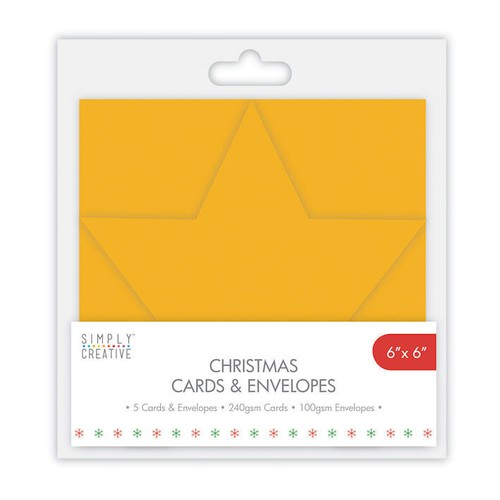 Simply Creative Star Cards and Envelopes 5 Per Pack 5x7 Inch (SCCAE006)