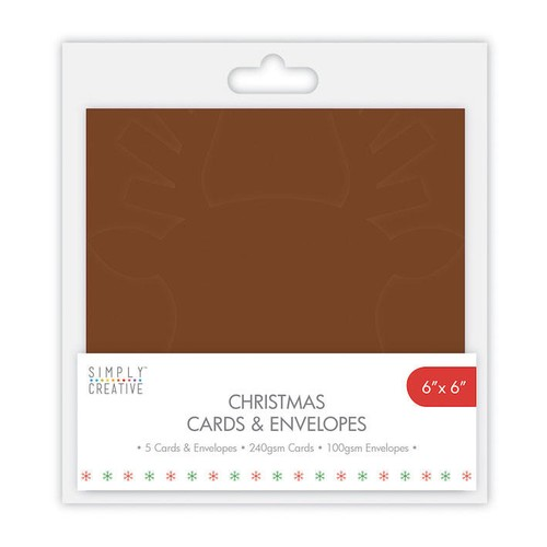 Simply Creative Reindeer Cards and Envelopes 5 Per Pack 5x7 Inch (SCCAE007)