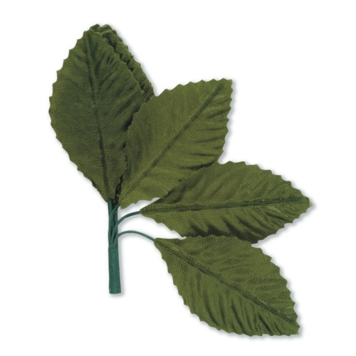 25mm Large Green Leaf x 60mm app 6 bunches 72 pcs (SH38GRN)
