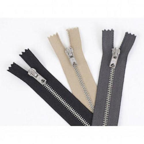 (TZ9) Trouser Zip Fasteners 23cm (9 Inch) (White)