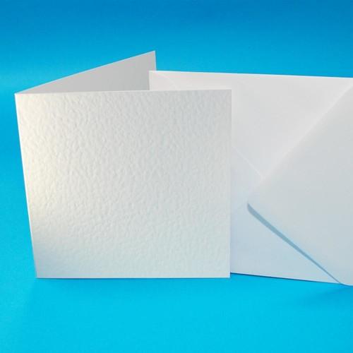 Cards & Envelopes 6 x 6 White Hammer 50 Pack (W101)