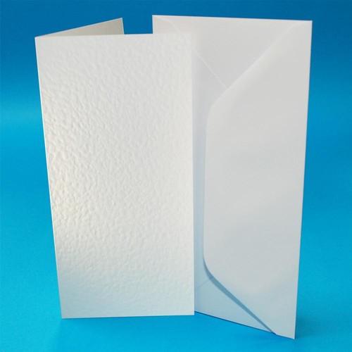 Cards & Envelopes DL White Hammer 50 Pack (W105)