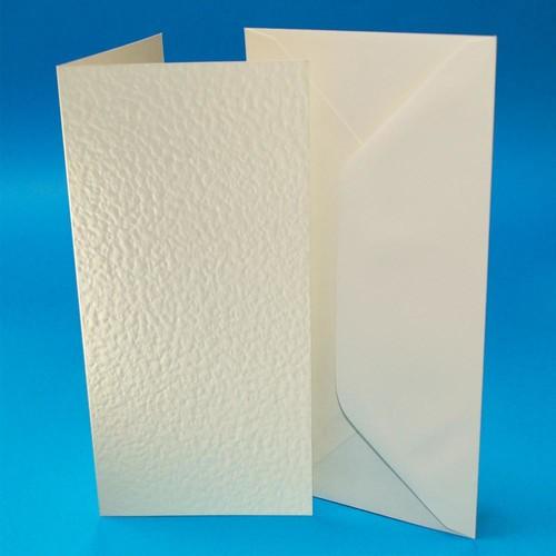 Cards & Envelopes DL Ivory Hammer 50 Pack (W106)