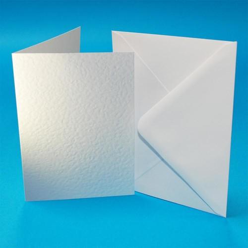 (W109) Cards & Envelopes C6 White Hammer 50 Pack