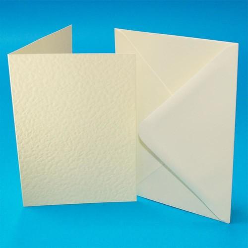 (W110) Cards & Envelopes C6 Ivory Hammer 50 Pack