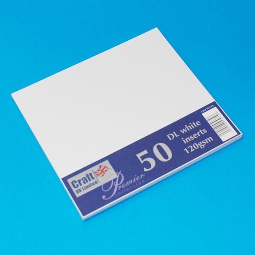 Premium Inserts DL White 50 Pack (W114)