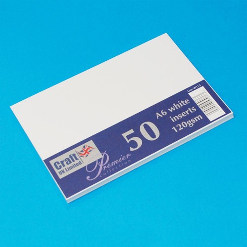 Premium Inserts C6 White 50 Pack (W115)