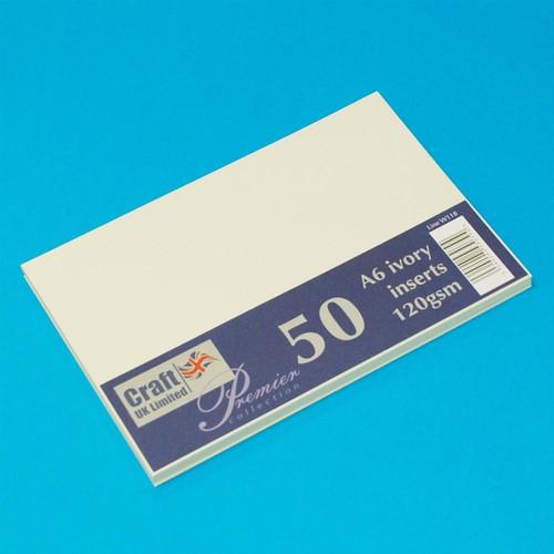 Premium Inserts C6 Ivory 50 Pack (W118)