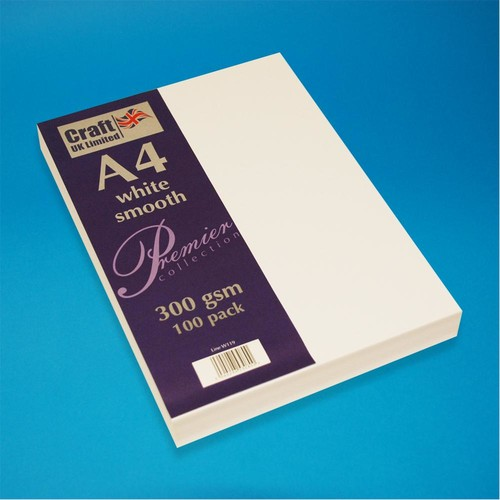 Premium A4 Cards Smooth Finish White (W119)